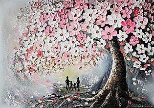 Obrazy - Rodinný strom - bez hojdačky - 12875199_
