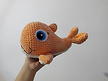 Hračky - Háčkovaná veľrybka Elmíra - 12875282_