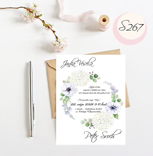 svadobné oznámenie 267