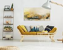 Obrazy - Slnečná hora, 120x60, abstraktný obraz, abstraktné obrazy - 12874454_