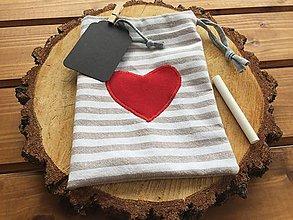 Úžitkový textil - vrecúško ako valentínka? - 12875861_