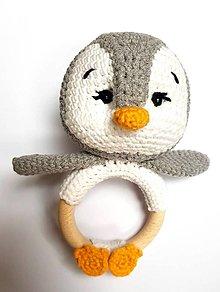 Hračky - Hrkálka tučniak - 12878888_