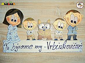 Tabuľky - Menovka - rodinka - 12879003_