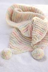 Šály - Hrubý pletený šál - 12877689_