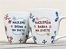 Nádoby - Maľované hrnčeky folkové pre babku a dedka - 12876519_