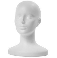Iný materiál - polysterénový model hlavy - 12878995_