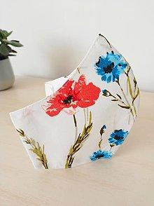 Rúška - AKCIA! Dámske rúško poľné kvety - 12879133_