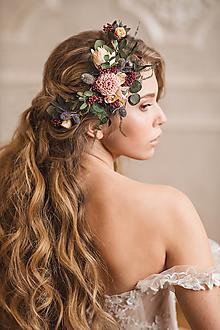 """Ozdoby do vlasov - Kvetinová aplikácia """"vietor pošepne"""" - 12879212_"""