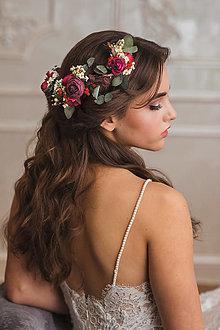 """Ozdoby do vlasov - Kvetinová aplikácia """"ticho po zotmení"""" - 12879272_"""