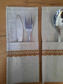 Úžitkový textil - Vreckár na príbor - 12882128_