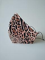 Rúška - VÝPREDAJ dámske dizajnové rúško prémiová bavlna antibakteriálne s časticami striebra dvojvrstvové tvarované - 12880925_