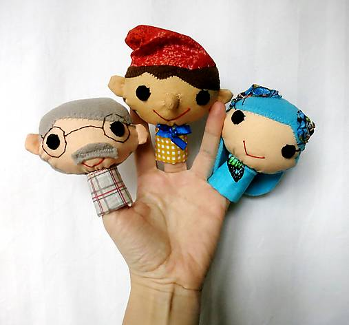 Sada maňušiek na prst - Pinocchio