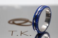Prstene - Prsteň Titán s Lapis Lazuli - 12884235_