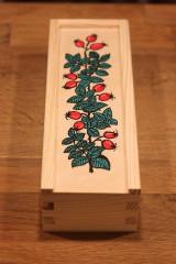 Krabičky - Drevená ručne maľovaná krabička na hodinky ŠÍPKY - 12882671_