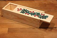 Krabičky - Drevená ručne maľovaná krabička na hodinky ŠÍPKY - 12882676_