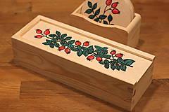 Krabičky - Drevená ručne maľovaná krabička na hodinky ŠÍPKY - 12882680_