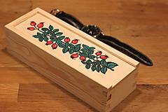 Krabičky - Drevená ručne maľovaná krabička na hodinky ŠÍPKY - 12882681_