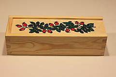 Krabičky - Drevená ručne maľovaná krabička na hodinky ŠÍPKY - 12882683_
