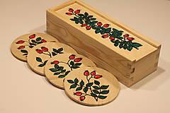 Krabičky - Drevená ručne maľovaná krabička na hodinky ŠÍPKY - 12882684_
