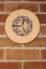 Hodiny - Drevené hodiny z bukového dreva Mandala FOLKLÓR - 12883461_