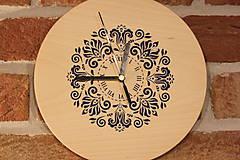 Hodiny - Drevené hodiny z bukového dreva Mandala FOLKLÓR - 12883465_