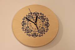 Hodiny - Drevené hodiny z bukového dreva Mandala FOLKLÓR - 12883470_