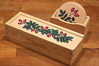 Krabičky - Drevená ručne maľovaná krabička na hodinky ŠÍPKY - 12882670_