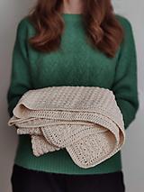 Textil - Smotanová detská deka - 12884272_