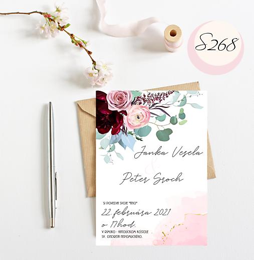 kvetinová obálka č.268
