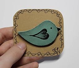 Brošne - Brošňa vtáčik - 12885153_