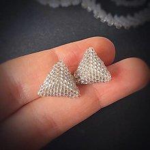 Náušnice - Napichovacie náušnice: Trojuholníky Ag 925 - 12883613_