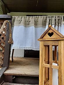 Úžitkový textil - Ľanová záclonka Cinderella - 12884446_