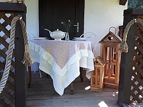 Úžitkový textil - Ľanový obrus Romantic - 12884502_