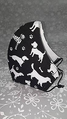 Rúška - Pánske rúško Psy s antibakteriálnou bavlnou - 12889892_