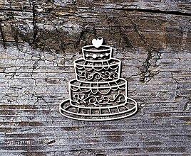 Materiál ručne robený - Torta výrez - 12886275_