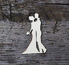 Materiál ručne robený - Svadobné siluety - 12886285_