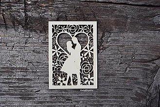 Materiál ručne robený - svadobné siluety - 12886318_