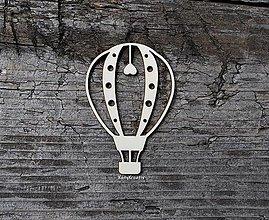 Materiál ručne robený - Balón so srdiečkom - 12886329_