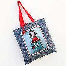 Veľké tašky - Velká taška Linen - 12889274_