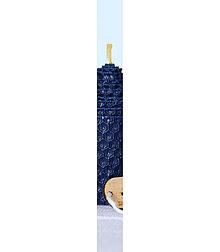 Svietidlá a sviečky - vysoká sviečka zo včelieho vosku/ rôzne farby (Modrá) - 12888016_