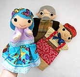 Hračky - Pinocchio - sada maňušiek na ruku - 12889738_
