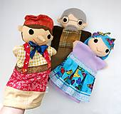 Hračky - Pinocchio - sada maňušiek na ruku - 12889739_