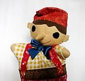 Hračky - Pinocchio - sada maňušiek na ruku - 12889742_