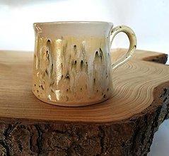Nádoby - Keramická šálka na kávu - zelenkavá - 12887371_