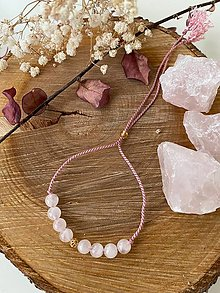Náramky - Růžový náramek s růženínem - 12885560_