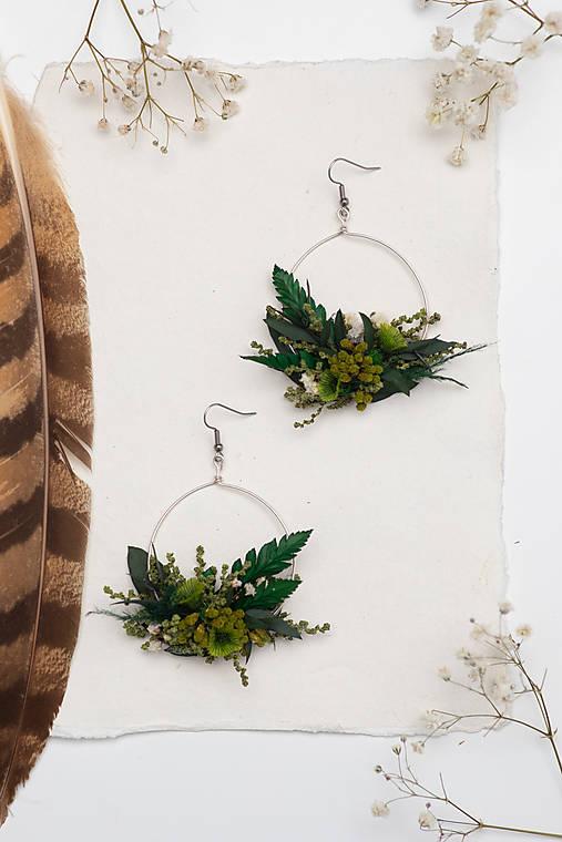 "Kvetinové kruhové náušnice ""vôňa trávy"""