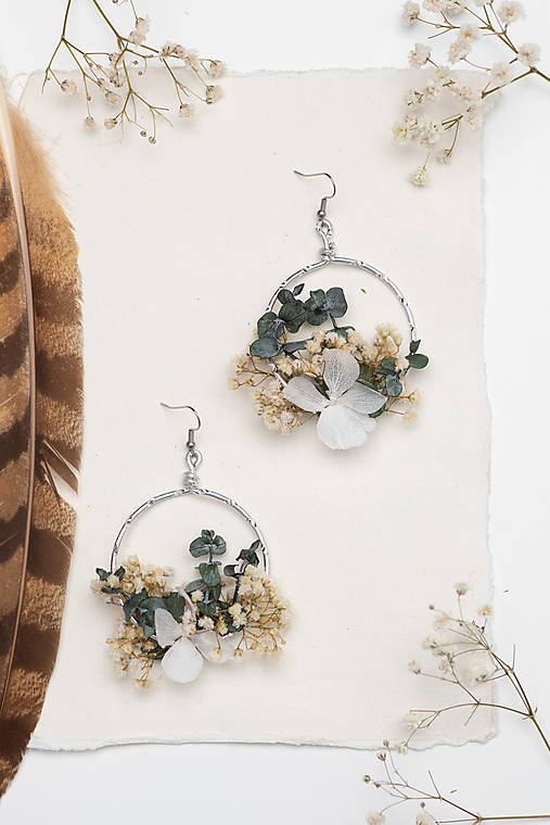 "Kvetinové kruhové náušnice ""neha"""