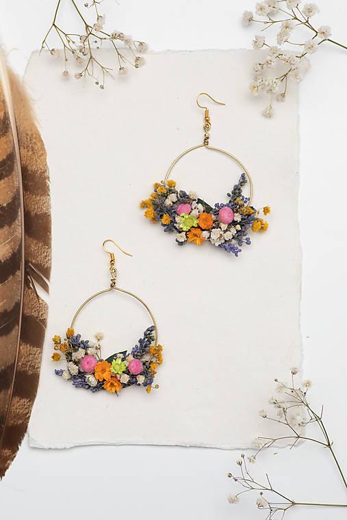 "Kvetinové kruhové náušnice ""krása lúky"""