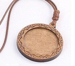 Komponenty - Drevené ozdobné lôžko 30 mm - náhrdelník, 1 ks (vzor 3.) - 12887561_