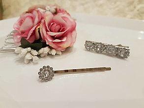 Ozdoby do vlasov - Sponka malý diamant - 12889288_